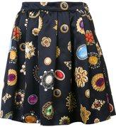 Moschino jewel print mini skirt