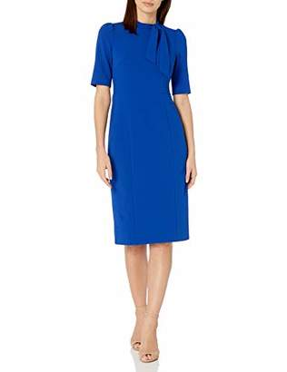 Donna Morgan Women's 3/4 Sleeve Sheath Dress