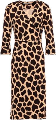 Diane von Furstenberg Joel Leopard-print Silk-jersey Wrap Dress
