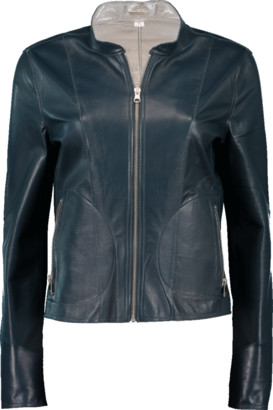 LAMARQUE Chapin Leather Reverse Bomber Jacket