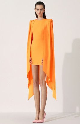 Alex Perry Tucker-Cape Sleeve Mini Dress