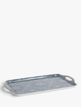 John Lewis & Partners Large Persia Melamine Tray, L48cm, Blue