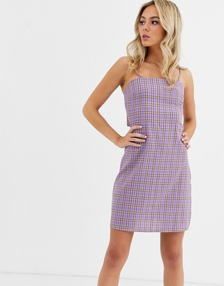 Glamorous tie back cami dress in check