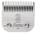 """Oster Professional 76918-126 Replacement Blade, Classic 76/Star-Teq/Power-Teq Clippers, Size #2, 1/4"""" (6.3mm)"""