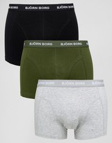 Bjorn Borg 3 Pack Trunks Multi