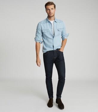 Reiss Sivas - Rinse Wash Denim Jeans in Blue
