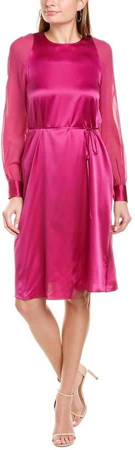 St. John Silk A-Line Dress