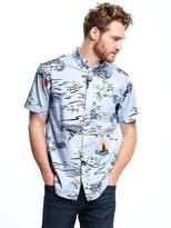 Old Navy Regular-Fit Soft-Washed Classic Shirt For Men