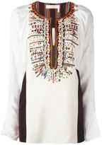 Chloé embroidered jacquard blouse