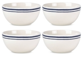 Kate Spade Order's Up Striped Set of 4 Bowls