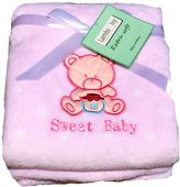 Lambs & Ivy Baby Blankets For Girls, Warm and Cozy, Extra Soft Coral Fleece Blanket, Sweet Baby Teddy Bear Theme, Choice of 2 Designs, 30 x 40