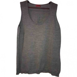 HUGO BOSS Grey Wool Top for Women