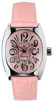 Montres de Luxe Women's BI3 ROS Bisanzio Stainless Steel Luminous Light Pink Leather Date Watch