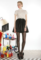 Scarlet Lace Top Dress with Belt - by Alice + Olivia