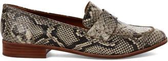 Franco Sarto Roccia Jolette Snakeskin-Effect Penny Loafers