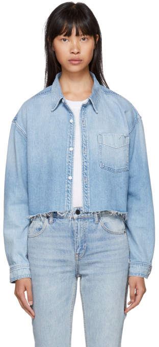 GRLFRND Blue Denim Christy Shirt