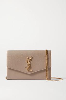 Saint Laurent Uptown Textured-leather Shoulder Bag - Beige