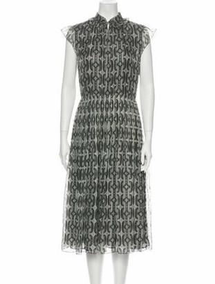 Celine Silk Midi Length Dress Grey