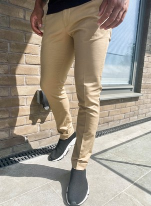 Topman Camel Smart Chinos