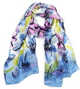 Vince Camuto Women's Brushed Blooms Silk Scarf