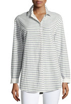 Lafayette 148 New York Sabira Long-Sleeve Campina Striped Blouse