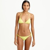 J.Crew String bikini top in Italian matte