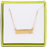 BaubleBar 14K Gold Plated Ice &L& Initial Bar Pendant Necklace
