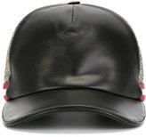 Bally contrast front baseball cap - men - Cotton/Lamb Skin/Polyamide/Polyester - 58
