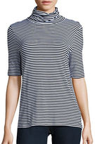 MICHAEL Michael Kors Striped Knit Turtleneck Top