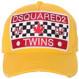 DSQUARED2 Twins Patch Canvas Baseball Cap