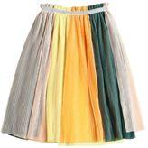 Molo Layered Plissé Stretch Tulle Skirt