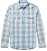 Faherty Slim-Fit Buffalo-Checked Cotton-Twill Shirt