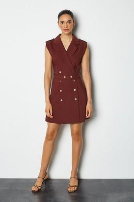 Karen Millen Safari Cotton Sateen Dress