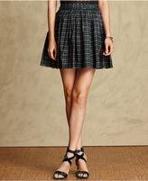 Tommy Hilfiger Skirt, Plaid-Print Pleated A-Line