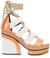 Pierre Hardy lace-up platform sandals - women - Leather/rubber - 35