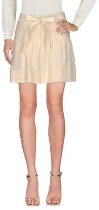 Gold Case Knee length skirt