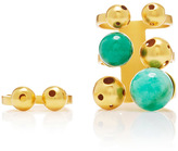 Paula Mendoza Gold and Emerald Bulles Ring Set