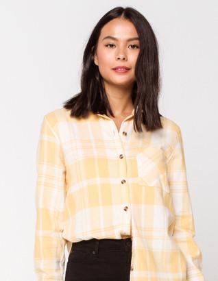 Full Tilt Destined One Pocket Womens Boyfriend Flannel