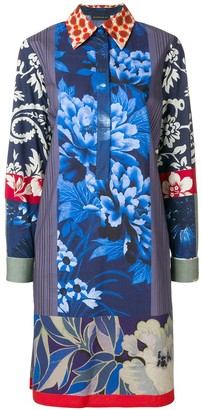 Etro Printed Henley Shirt Dress