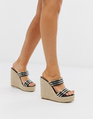 Truffle Collection glam wedge sandals-Multi