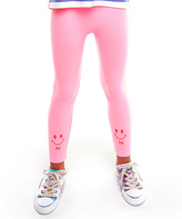 LittleMissMatched Cotton Candy 'Hi Bye' Leggings