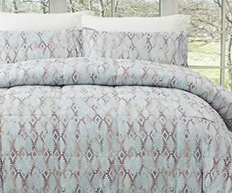 Natural Comfort MC210-Tut--Q Luxurious All Season Reversible Down Alternative Comforter Mini Set