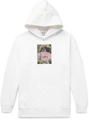 Acne Studios Farrin Oversized Printed Loopback Organic Cotton Jersey Hoodie