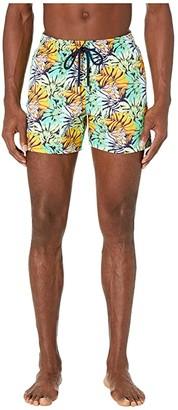 Vilebrequin Jungle Superflex Moorise Swim Trunks (Night Blue) Men's Swimwear