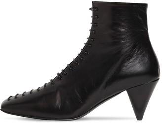 Jil Sander 70mm Lace-Up Leather Boots