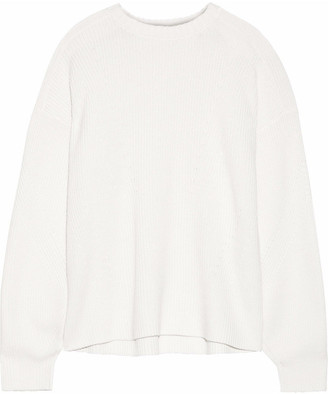 Iris & Ink Samantha Ribbed Wool And Cotton-blend Sweater