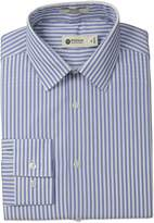 Haggar Men's Multi Stripe Point Collar Regular Fit Long Sleeve Dress Shirt
