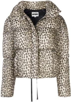 Apparis Paula leopard puffer jacket