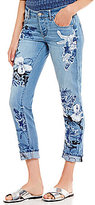 William Rast My Ex's Floral Embroidered Skinny Jeans
