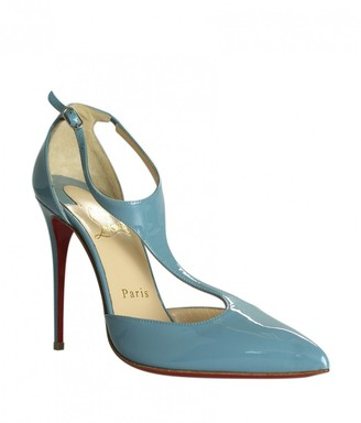 Christian Louboutin Blue Patent leather Heels